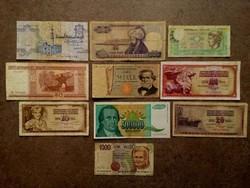 10 db külföldi vegyes bankjegy/id 7723/