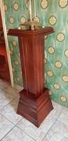 Antik,restaurált tölgy posztamens,szobortartó....