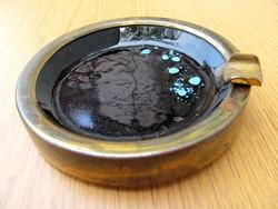 Porcelán / fém mázas hamutartó, hamutál