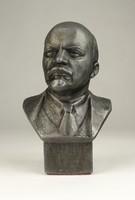 0W088 Jelzett orosz Lenin mellszobor 13.5 cm