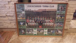 Régi Ferencvárosi Torna Club foci  plakát keretezve