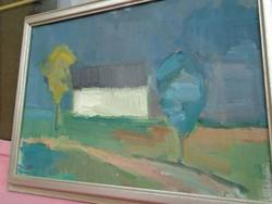 Olaj vászon festmény MT. szignóval 52 x 40 cm