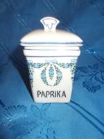 Antik századeleji fajansz kis paprika fűszertartó