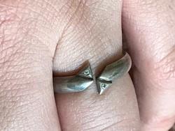 Csodálatos ezüst gyűrű 17mm belső átmérő