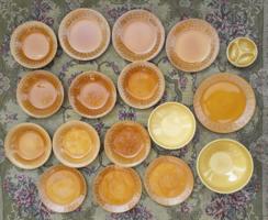 Gránit Kispest ritka retro porcelán szett - étkészlet