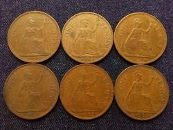 Anglia - Erzsébet királynő One Penny évszám gyűjtemény/id 7758/