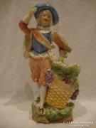 Biskvit porcelán figurás váza