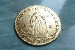 Mária Terézia, 2 dukát 1764 KB ( ritka évszám ! )