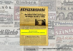 1980 március 8  /  NÉPSZABADSÁG  /  Régi ÚJSÁGOK KÉPREGÉNYEK MAGAZINOK Szs.:  9449