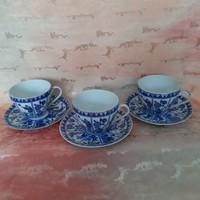 Japán, keleti, ázsiai porcelán, kávés csésze, tányér ( 3 db)