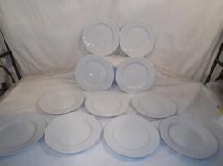Porcelán - 10 db - Seltmann Weiden, Regina nagyméretű sütis tányér 19 cm - fehér - hibátlan