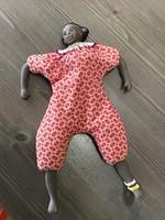 Régebbi babzsákos kézműves agyag végtagos afrikai baba
