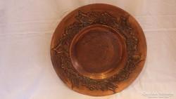 Kardos iparművész fémműves bronz falitál
