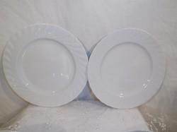 Porcelán - Seltmann Weiden, Regina nagyméretű sütis tányér 19 cm - fehér - hibátlan