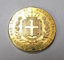 5 Lire - Carlo Alberto 1842 érme másolat.