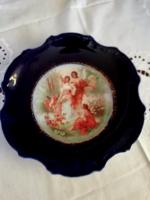 Altwien porcelán jelenetes fali  tál 25.5 cm