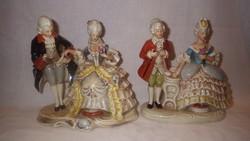 2 db Barokk pár GDR porcelán