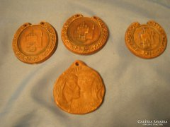 Antik 4 db,kerámia Plakett FALI DÍSZ 1987-1991 ritkaságok egyben eladóak