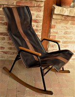EXTRA !! Retró , loft design hintaszék.összecsukható 60-as évek különleges !!