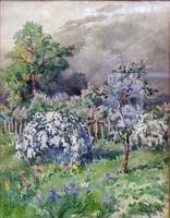 """Neogrády Antal ( 1861-1942 ) """" Tavaszi virágzás """""""