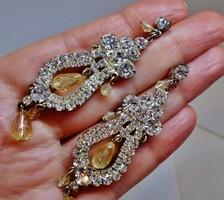 Csodálatos antik kristály fülbevaló