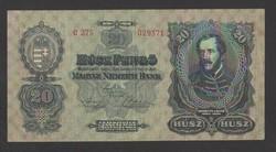 20 pengő 1930.  VF+++!!  GYÖNYÖRŰ!!