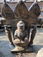Antik márvány buddha emlékmű