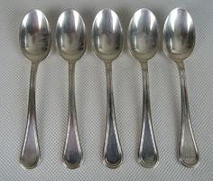 0W344 Régi ezüst kávéskanál mokkáskanál 5 db 54 g