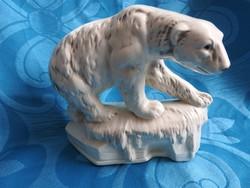 Sitzendorf -i antik porcelán jegesmedve