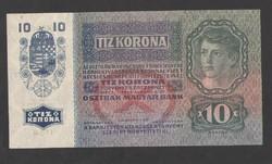 10 korona 1915.  Felülbélyegzés nélküli!!  aUNC!!  GYÖNYÖRŰ!!