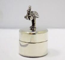 Ezüst gólyás fogtartó dobozka (ZAL-BI34337)