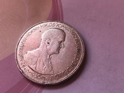 1930 Horthy ezüst 5 pengő,gyengén hajas 25 gramm 0,640