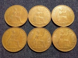 Anglia - Erzsébet királynő One Penny évszám gyűjtemény/id 7762/
