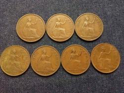 Anglia - VI. György One Penny évszám gyűjtemény/id 7857/