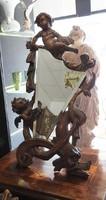 Antik Barokk Puttós Fésülködő asztali tükör - XVIII. század végéről! Eredeti!