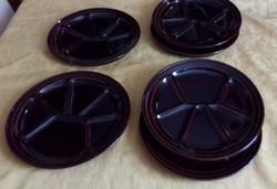 6 db francia osztott kerámia tányér