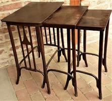 Josef & Jacob Kohn szervíz asztalok eredeti ritka antik darab !