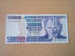 TÖRÖK 500.000 BESYÜZ BIN LÍRA 1970 (1998) Series J72