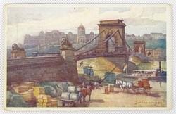 0W146 Hans Götzinger : Lánczhíd színes képeslap