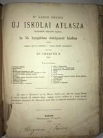 /1878/ Dr Lange Henrik / Új Iskolai Atlasza huszonkét színezett lapban.Az 56. Legujabban átdolgozott