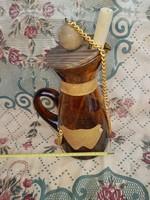 Sangriás üvegkancsó, 26 cm+szerelék