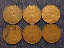 Anglia - VI. György One Penny évszám gyűjtemény/id 7859/