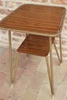 Retró , loft csővázas asztal 70-es évek