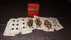 Angol bőr kártya doboz + póker kártya