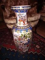 Kinai porcelán nagy kézzel festett padlóváza 62x24cm