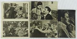 0W200 Régi fekete-fehér magyar filmes képeslap 5db