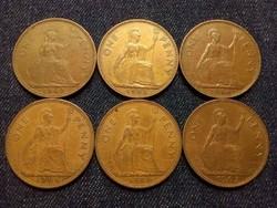 Anglia - Erzsébet királynő One Penny évszám gyűjtemény/id 7760/