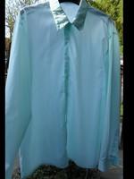 Retro, világos türkiz színű ing (hosszú ujjú férfi ing)