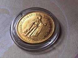 1892 arany 10 korona ,szép darab kapszulában