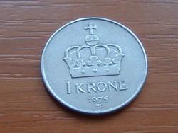 NORVÉGIA 1 KORONA 1975